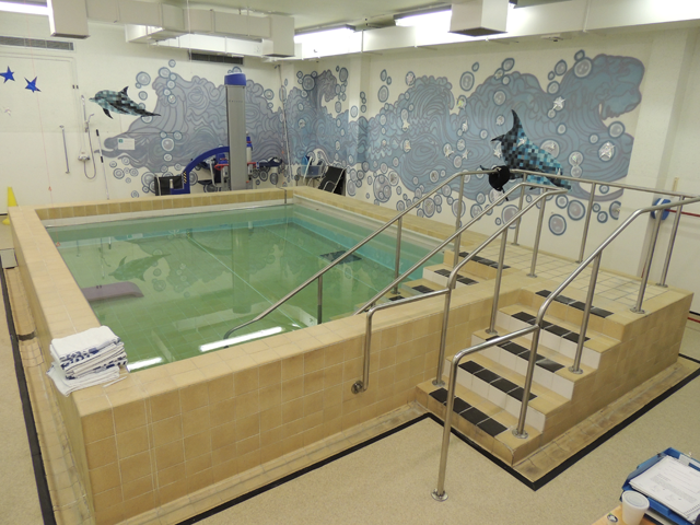 The pool at the Borders General Hospital